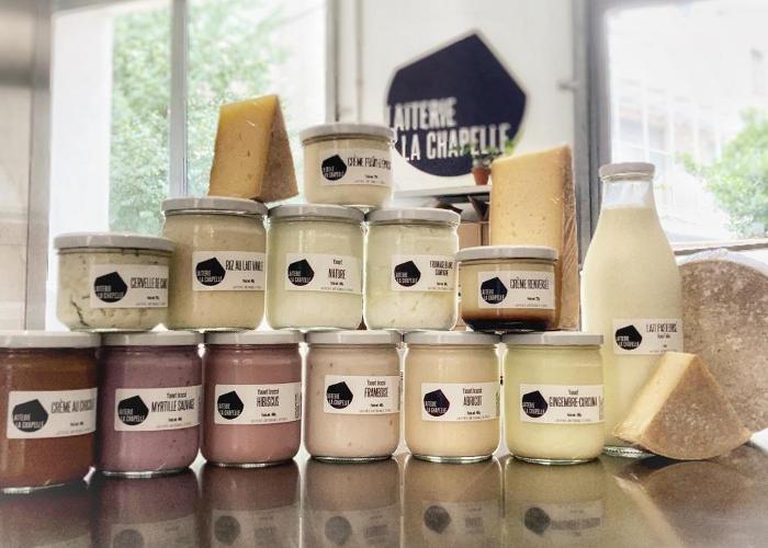Des produits laitiers fabriqués à Paris, à la laiterie La Chapelle