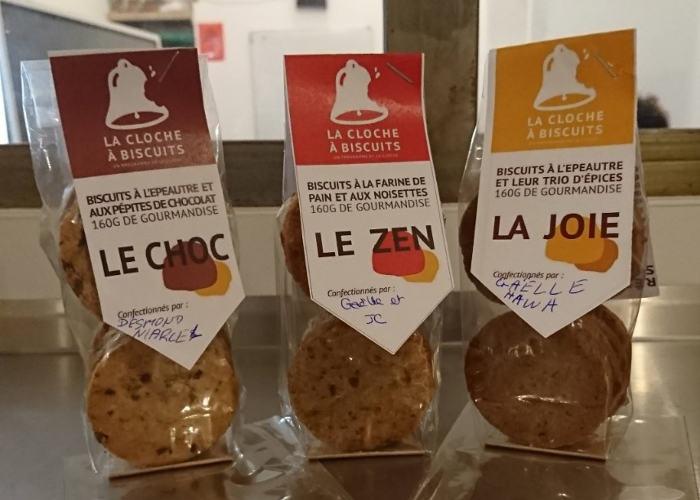 Sachet de biscuits fabriqués à Paris