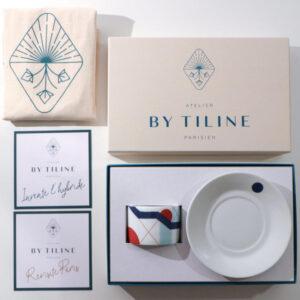 Coffret bougie parfumée créé par l'atelier artisanal parisien By Tiline