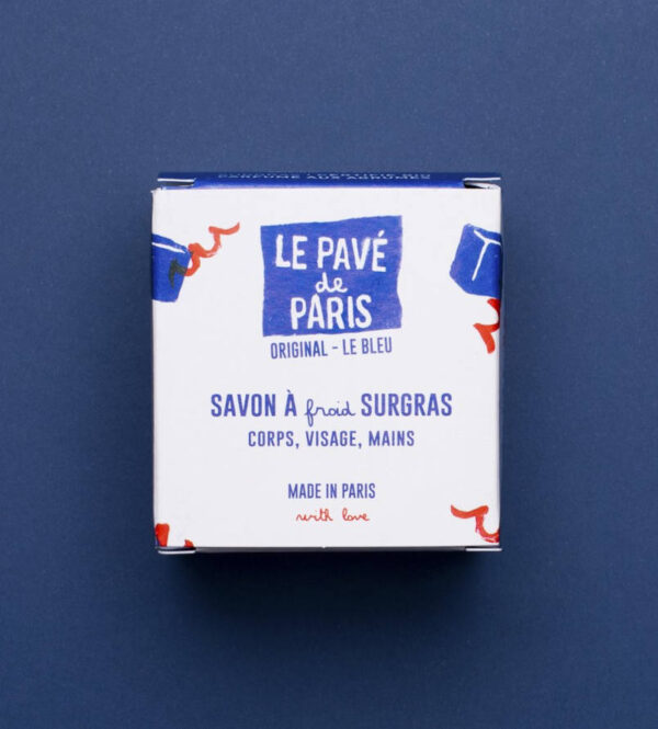 Savon pavé de Paris original, dans son emballage recyclé