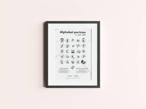 Affiche déco parisienne, alphabet des rues de Paris. Craquez pour cet authentique souvenir de Paris, à la fabrication artisanale.