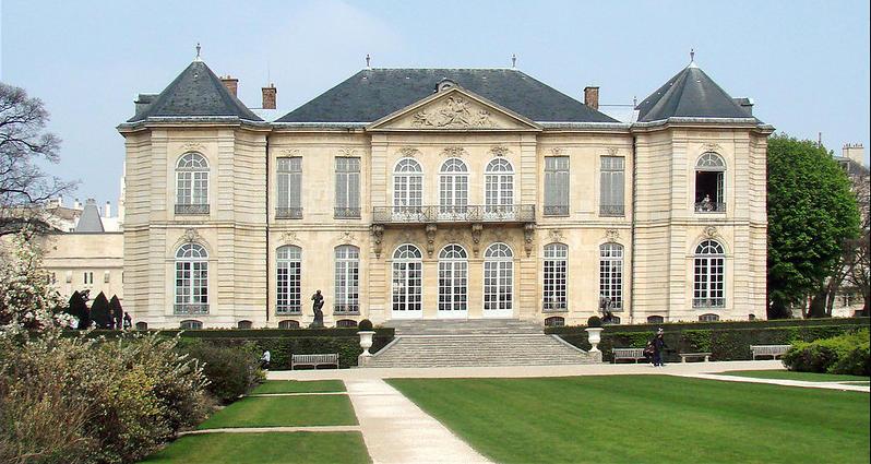 L'hôtel Biron à Paris vu depuis les jardins